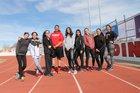 Robertson Cardinals Girls Varsity Track & Field Spring 17-18 team photo.
