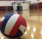 Clinton-Massie Falcons Girls Varsity Volleyball Fall 19-20 team photo.
