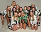 New Castle Trojans Girls Varsity Volleyball Fall 19-20 team photo.