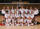 Jonesboro Hurricane Girls Varsity Volleyball Fall 19-20 team photo.