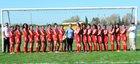 Gustine Reds Girls Varsity Soccer Spring 15-16 team photo.