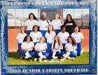 Cypress Creek Cougars Girls JV Softball Spring 17-18 team photo.