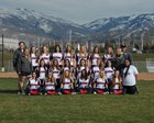 Woods Cross Wildcats Girls JV Softball Spring 17-18 team photo.