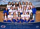 Christian Brothers Falcons Girls JV Softball Spring 17-18 team photo.