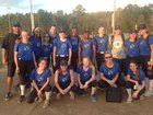 Montgomery Catholic Knights Girls JV Softball Spring 17-18 team photo.