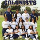 Anaheim Colonists Girls JV Softball Spring 17-18 team photo.