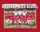 Savanna Rebels Girls Varsity Softball Spring 15-16 team photo.