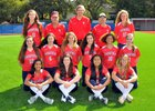 Saratoga Falcons Girls Varsity Softball Spring 15-16 team photo.