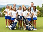 McDowell Titans Girls Varsity Golf Fall 18-19 team photo.