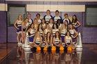 Lavaca Golden Arrows Co-ed Varsity Cheer Fall 18-19 team photo.