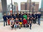 Jones Eagles Boys Varsity Water Polo Spring 18-19 team photo.