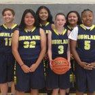 Highland Hornets Girls JV Basketball Winter 18-19 team photo.
