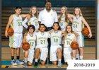 Center Cougars Girls JV Basketball Winter 18-19 team photo.