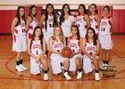 Grants Pirates Girls JV Basketball Winter 18-19 team photo.