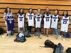 Carlsbad Lancers Girls JV Basketball Winter 18-19 team photo.