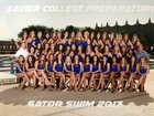 Xavier College Prep Gators Girls Varsity Swimming Fall 17-18 team photo.