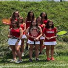 Charlotte Catholic Cougars Girls JV Tennis Fall 18-19 team photo.
