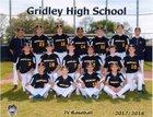 Gridley Bulldogs Boys JV Baseball Spring 17-18 team photo.