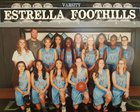 Estrella Foothills Wolves Girls Varsity Basketball Winter 16-17 team photo.