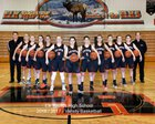Elk Rapids Elks Girls Varsity Basketball Winter 16-17 team photo.