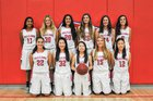 Saratoga Falcons Girls Varsity Basketball Winter 16-17 team photo.