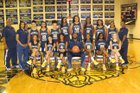 Riverdale Baptist Crusader Girls Varsity Basketball Winter 16-17 team photo.
