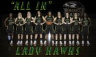 Birdville Hawks Girls Varsity Basketball Winter 16-17 team photo.