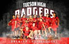 Tucson High Magnet School Badgers Girls Varsity Basketball Winter 16-17 team photo.