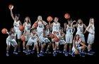 Richardson Eagles Girls Varsity Basketball Winter 16-17 team photo.