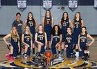 Tacoma Baptist Crusaders Girls Varsity Basketball Winter 16-17 team photo.