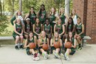 The Woodlands Highlanders Girls Varsity Basketball Winter 16-17 team photo.