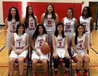 Carter-Riverside Eagles Girls Varsity Basketball Winter 16-17 team photo.