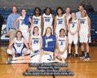 Mooresville Blue Devils Girls Varsity Basketball Winter 16-17 team photo.