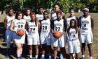 Hamilton Heights Christian Academy Hawks Girls Varsity Basketball Winter 16-17 team photo.