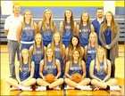 Nazareth Swifts Girls Varsity Basketball Winter 16-17 team photo.