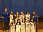 Seattle Lutheran Saints Girls Varsity Basketball Winter 16-17 team photo.