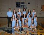 Leland Chargers Girls Varsity Basketball Winter 16-17 team photo.