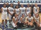 St. Genevieve Valiants Girls Varsity Basketball Winter 16-17 team photo.