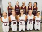 Riverside Rebels Girls Varsity Basketball Winter 16-17 team photo.