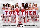 Flowery Branch Falcons Girls Varsity Basketball Winter 16-17 team photo.