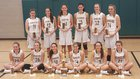 Forest Hills Rangers Girls Varsity Basketball Winter 16-17 team photo.