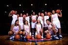 Sandy Creek Patriots Girls Varsity Basketball Winter 16-17 team photo.