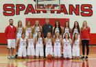 Stanwood Spartans Girls Varsity Basketball Winter 16-17 team photo.