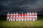 Model Patriots Boys Varsity Baseball Spring 16-17 team photo.
