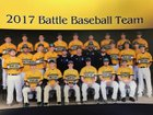 Battle Spartans Boys Varsity Baseball Spring 16-17 team photo.