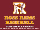 Ross Rams Boys Varsity Baseball Spring 16-17 team photo.