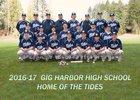 Gig Harbor Tides Boys Varsity Baseball Spring 16-17 team photo.