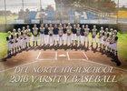 Del Norte Warriors Boys Varsity Baseball Spring 16-17 team photo.
