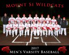 Mount Si Wildcats Boys Varsity Baseball Spring 16-17 team photo.