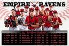 Empire Ravens Boys Varsity Baseball Spring 16-17 team photo.